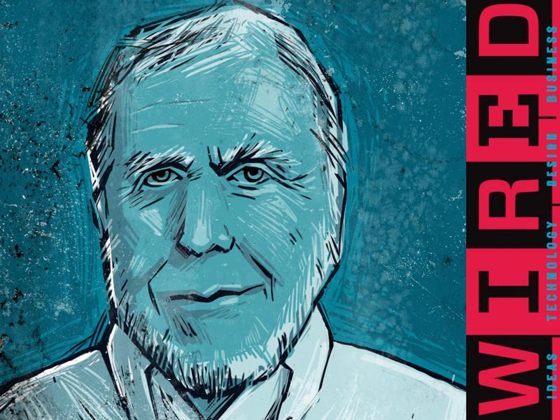 Kevin Kelly - WIRED magazine founder by Oleg Tischenkov - Dribbble