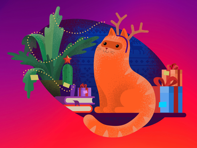 The NewYear cat ipad affinity designer new year affinitydesigner cat vector