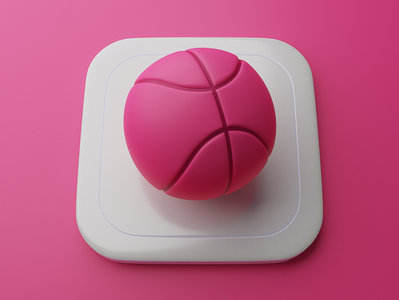 Dribbble | Big Sur App Icon graphic neumorphism skeumorphism invite logo blender 3d app icons dribbble app icon big sur