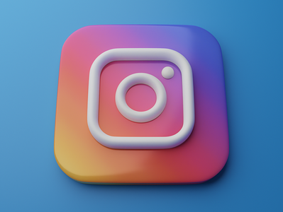 Instagram | Big Sur App Icon 3d skeumorphism neumorphism logo graphic instagram blender big sur app icon 3d art