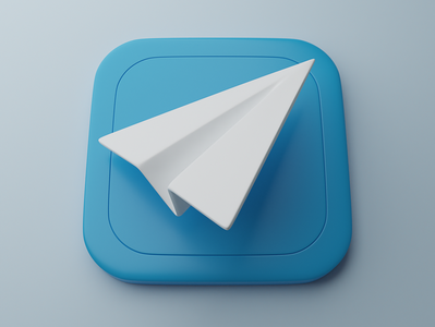 Telegram | Big Sur App Icon 3d icon 3d minimal icons design clean c4d bigsur blender