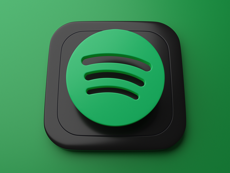 Spotify | Big Sur App Icon skeumorphism graphic branding ui 3d art appicon spotify blender 3d bigsur