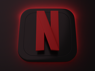 Netflix | Big Sur App Icon app icon big sur graphic branding logo ui blender 3d