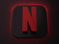 Netflix | Big Sur App Icon app icon big sur graphic branding logo ui blender 3d