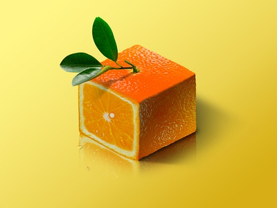 Orange @ World of Isometric Fruits fitness health graphic manipulation photoshop illustration isometric design fruit