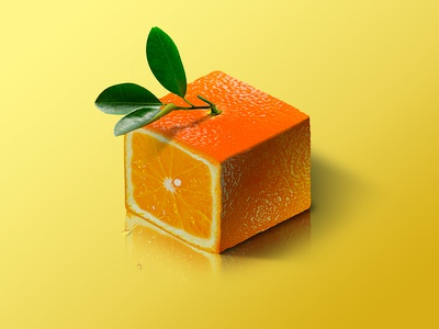 Orange @ World of Isometric Fruits fitness health graphic manipulation photoshop illustration isometric design fruit