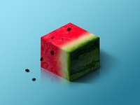 Watermelon @ World of Isometric Fruits