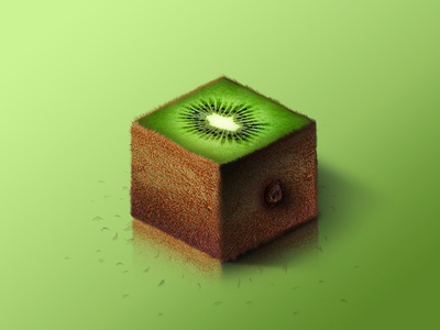Kiwi @ World of Isometric Fruits kiwi photoshop manipulation isometric illustration health graphic fruit fitness design