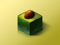 Avocado @ World of Isometric Fruits