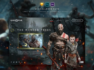 Game Website Concept - UI Challenge 02/12 challenge interface game graphic aftereffects sketch photoshop ux motion design ui