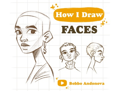 Drawing faces tutorial - in my YouTube channel portrait art face illustration youtube channel tutorial drawing fashion drawing girl procreate painting digital illustration character design digital art illustration digital drawing
