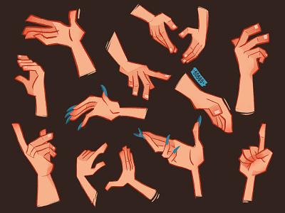 Hands study digital illustration procreate art illustration design handillustration gesturedrawing conceptart anatomy hands procreate painting character design digital art illustration digital drawing