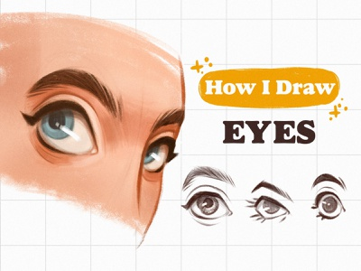 Drawing eyes tutorial - in my YouTube channel youtube video drawing tutorial girl procreate character digital illustration character design digital art drawing illustration digital drawing