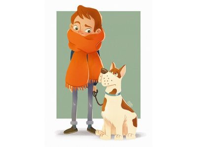 Doggie time #1 dog illustration funny digital art digital illustration digital drawing character design drawing boy pets dog character illustration