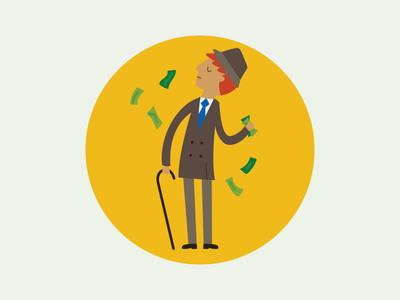 Chasing Fortune illustration fortune rich money