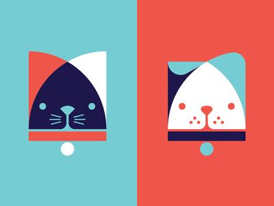 Aurora Veterinary Hospital Icons branding icons veterinary logo vet cat dog