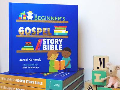 Beginner's Gospel Story Bible bible gold foil childrens book illustration childrens bible story bible