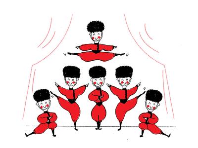 Nutcracker illustration ballet dance nutcracker russian