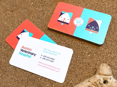 Aurora Veterinary Hospital Stationery branding logo veterinary vet dog cat envelope letterhead business cards