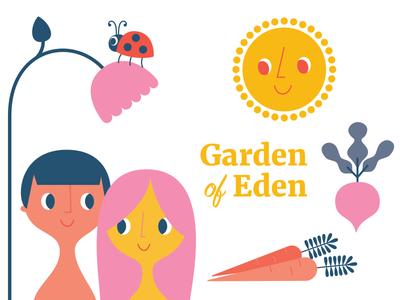 First Round - This Is the Gospel childrens illustraion genesis bible garden of eden adam and eve illustration