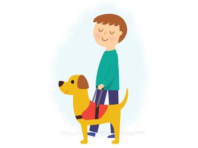 Helper special needs disability vision childrens book illustration dog seeing eye blind helper service animal