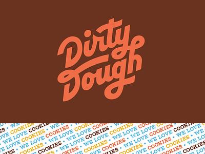 Dirty Dough Logo dirty dough branding handlettering dough cookies script typography logo
