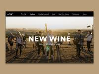 WIP New Wine Website