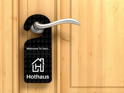 Hothaus Property Ltd | Door Hanger logotypes vector illustration wordmark logotype design graphic designer sketching branding brand hand lettering typography icon iconography monogram identity