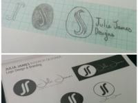Julia James - Logo Sketches - Early Exploration