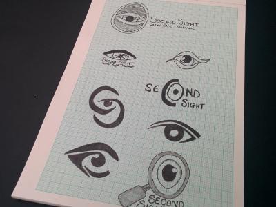 Second Sight Initial Concept Sketches strategy branding brand designer graphic design identity monogram icon logo
