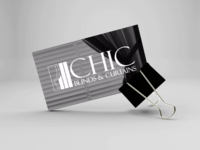 CHIC Blinds and Curtains Logo Design