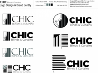 CHIC Blinds & Curtains Logo Concepts
