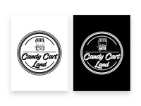 Candy Cart Land Logo Design | Black & White