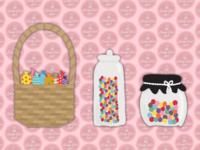 Candy Cart Land | Sweet Jar & Basket Illustration