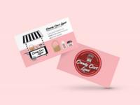 Candy Cart Land | Business Card Design