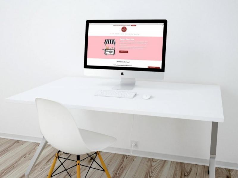 Candy Cart Land | Web Design & Development iconography monogram typography design branding brand graphic identity logo website web