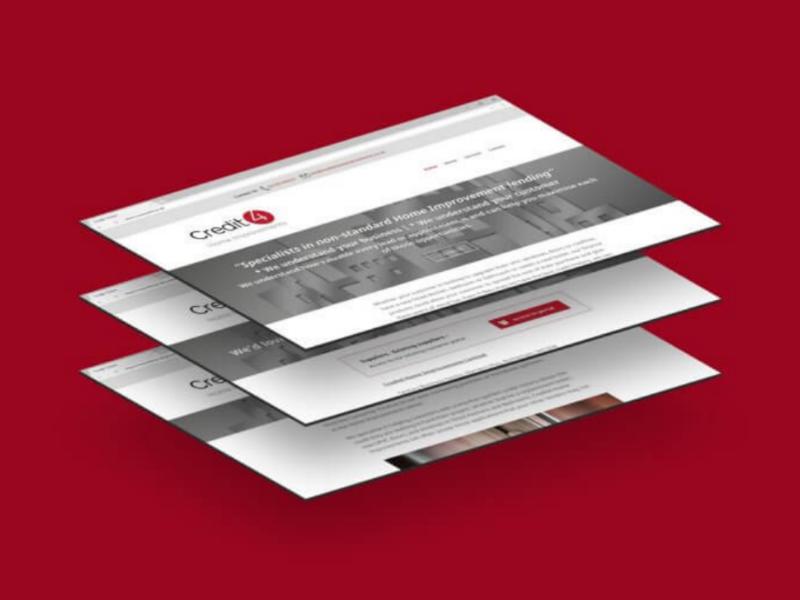 Credit4 Home Improvements | Web Design & Development mobile responsive digital ux ui development design website web
