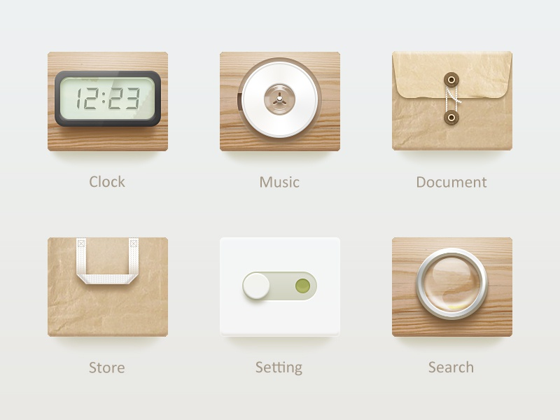 良·舍 icon ui simple wood white china 2x