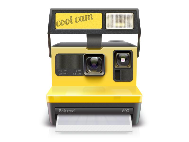 Polaroid PSD photoshop camera psd icon ui design china