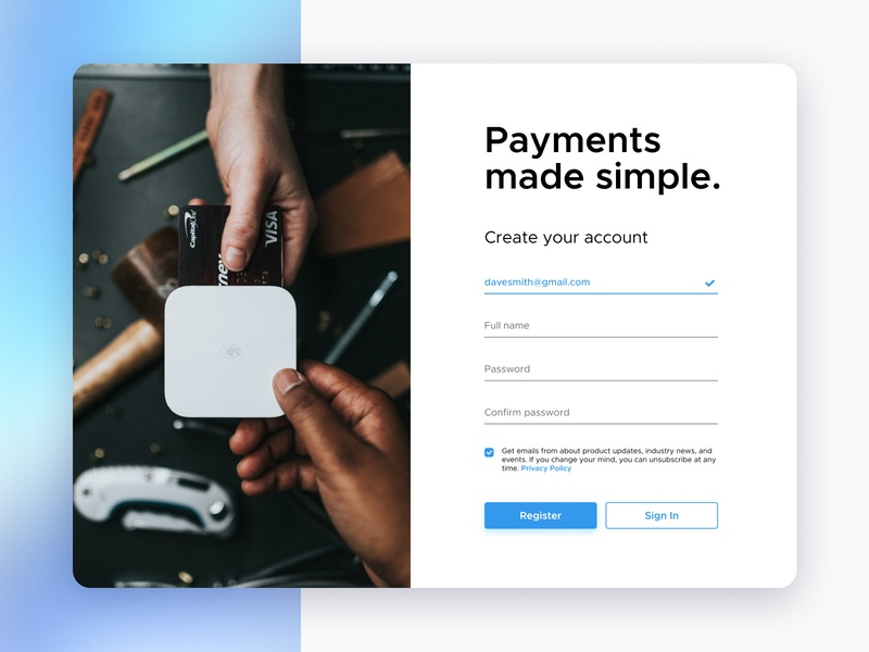 Sign Up page register account form dailyui uiux sign up
