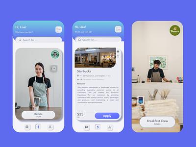 Job Concept Mobile App ux design ux ui job job application invision studio sketch product design mobile ui mobile design mobile app design mobile app mobile ios invision design android