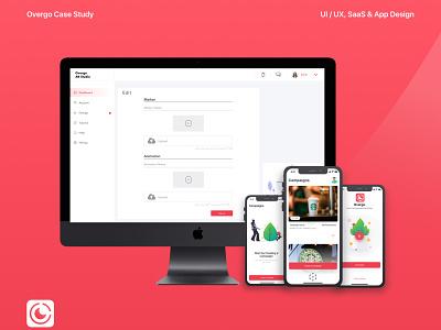 Overgo AR Studio SaaS mobile app design android studio augmented reality ar ui design ux design ui ux mobile design mobile ui product design mobile mobile app ios invision design saas design saas app saas