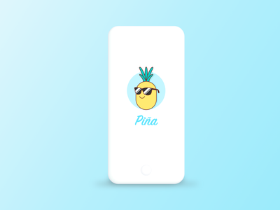 Piña Mobile App figma ios app android app ios splash screen mobile app design mobile design mobile ui product design ux design mobile app mobile design android ui ux pineapple fruits fruit cocktails