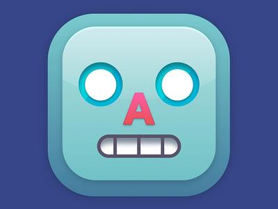 Bleep Bloop app icon icon gradients robot illustration design