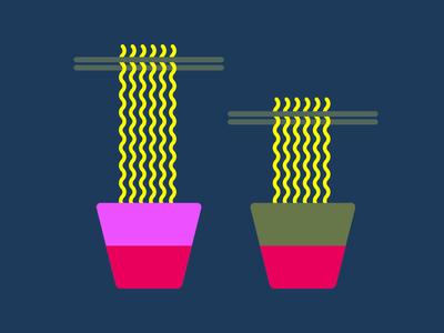 Noodles colour vector design hungry illustration design illustration noodles
