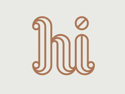 Hi hello geometry linework custom typography tyography design illustration design illustration hi
