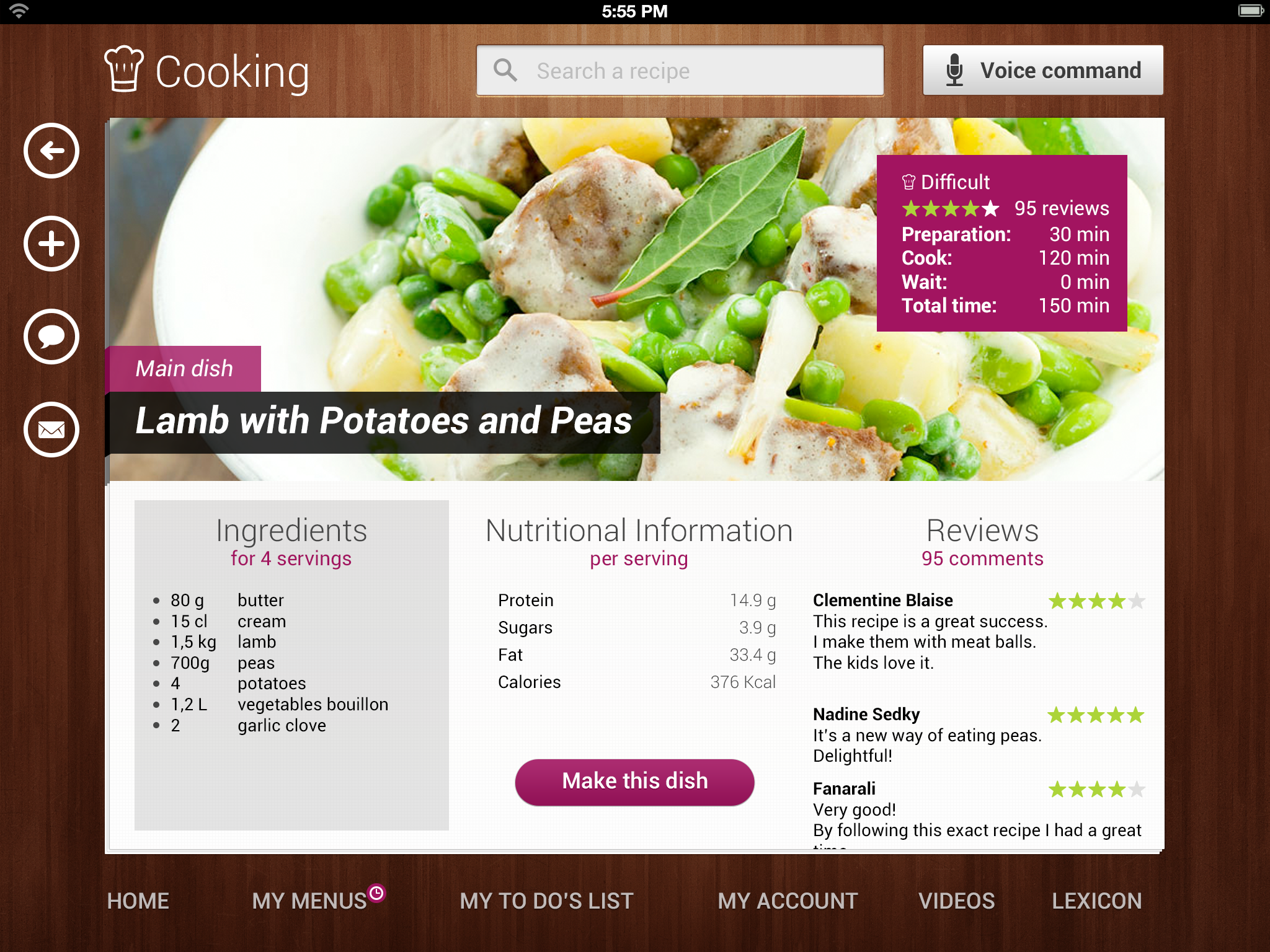 Johan marie projects cooking ipad dribbble recipe cooking ipad app forumfinder Choice Image