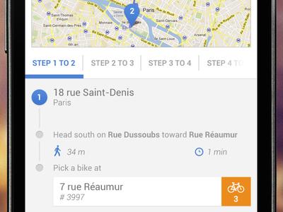 Bike Directions in Paris