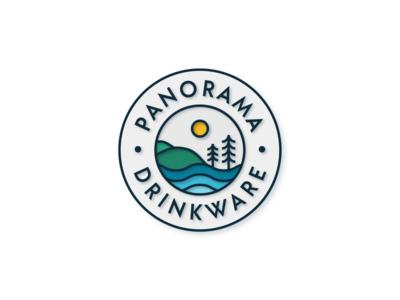 Panorama Logo lines badge design badge logo badge design clean circular logo circular logo lineart linework line simple shapes geometric