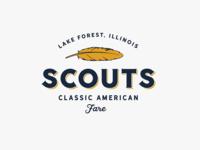 Scouts illustration american grain vintage design vintage logo